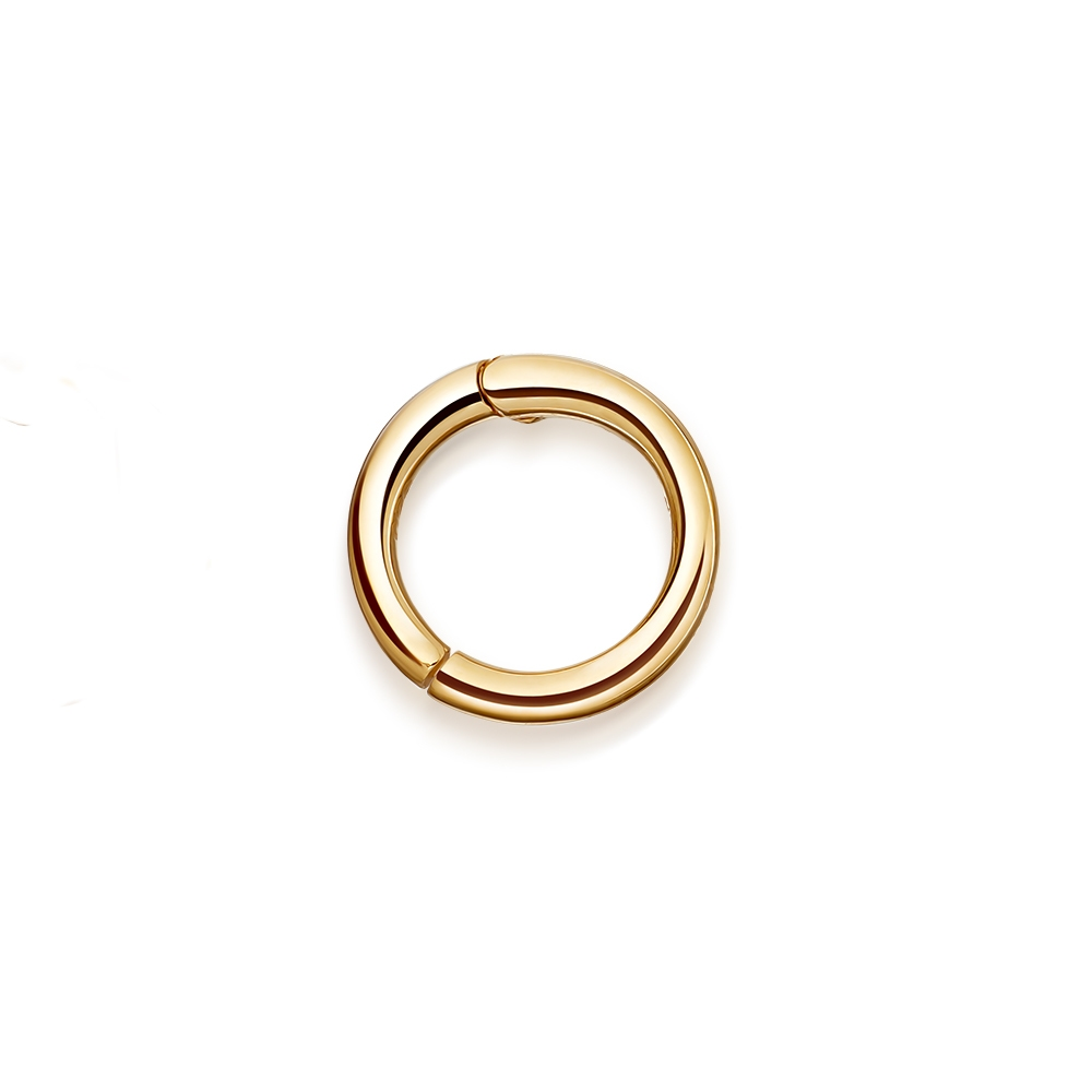 Tiny Halo Single Hoop Earring