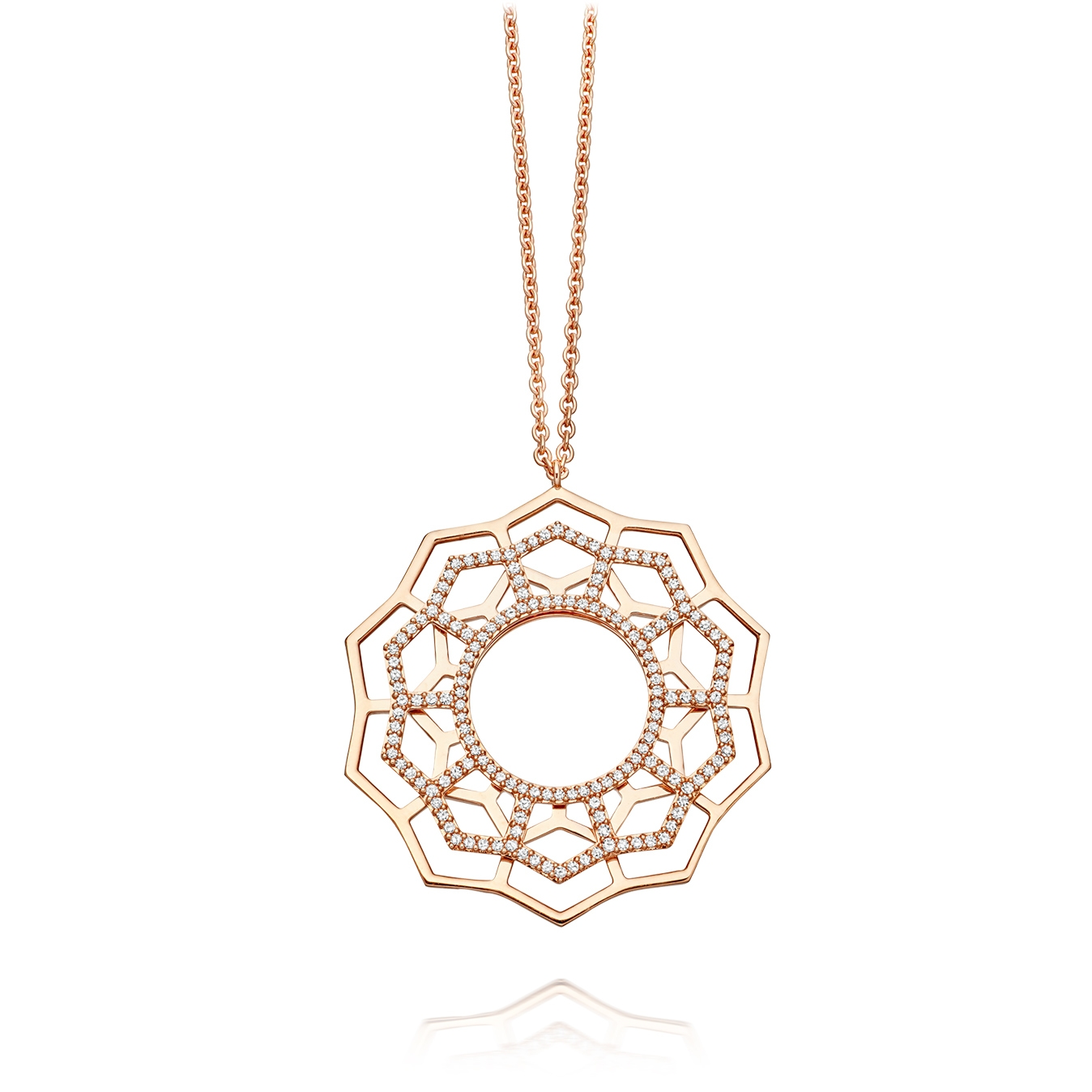 Open Honeycomb Pendant