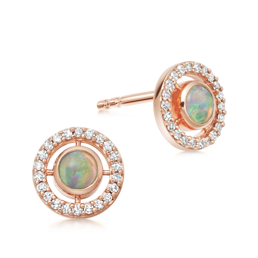 Opal Mini Icon Aura Stud Earrings