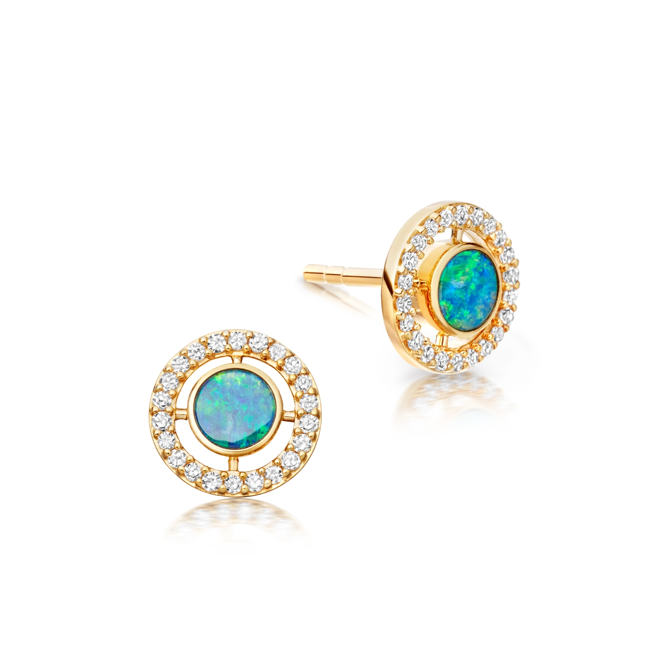 Opal Mini Icon Aura Studs