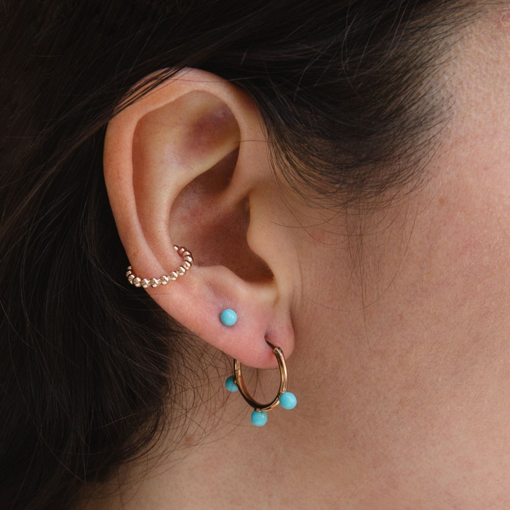 Turquoise Peggy Stud Earrings