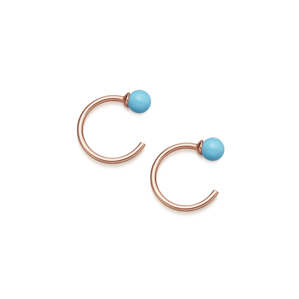 Turquoise Ezra Stud Hoop Earrings