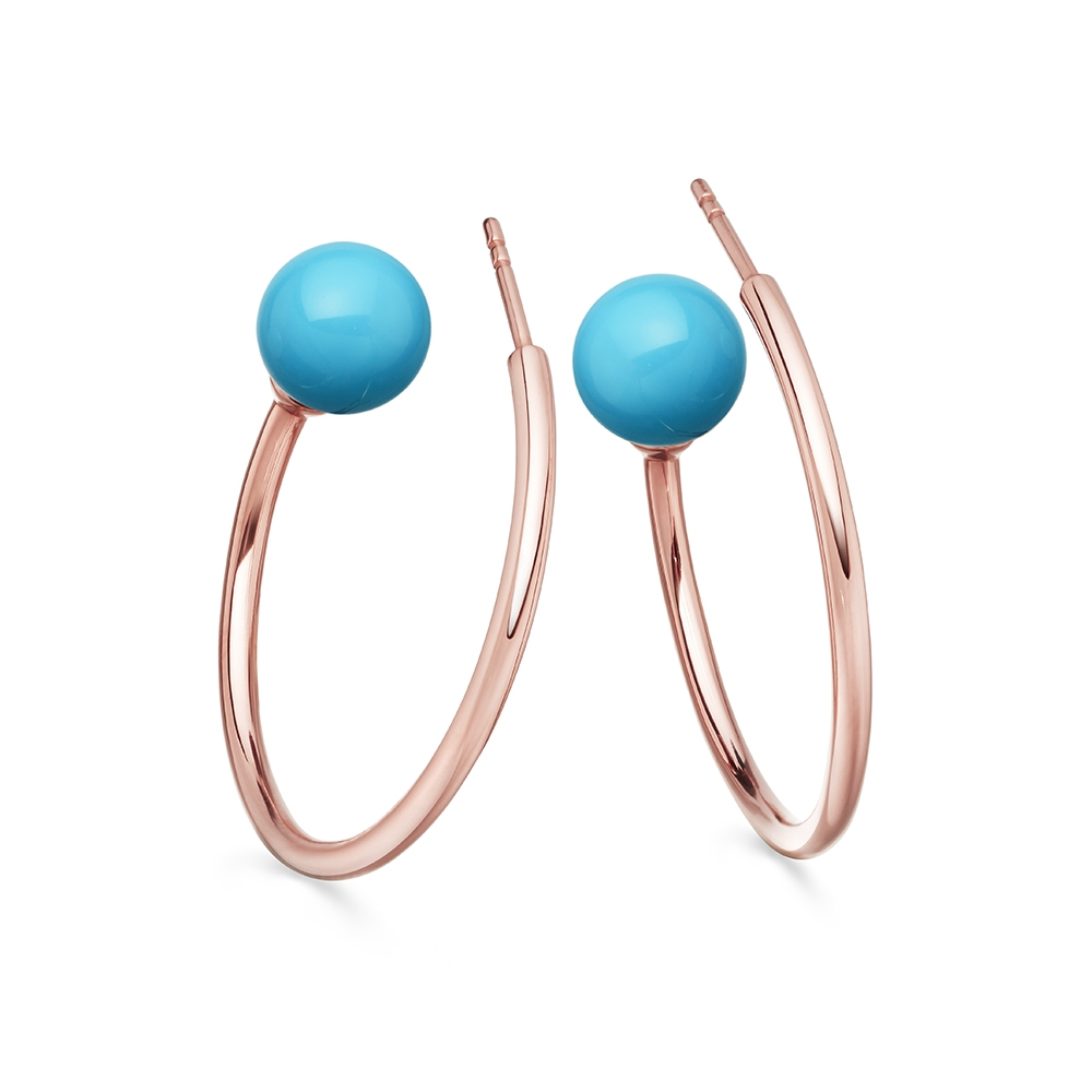 Turquoise Ezra Hoop Earrings