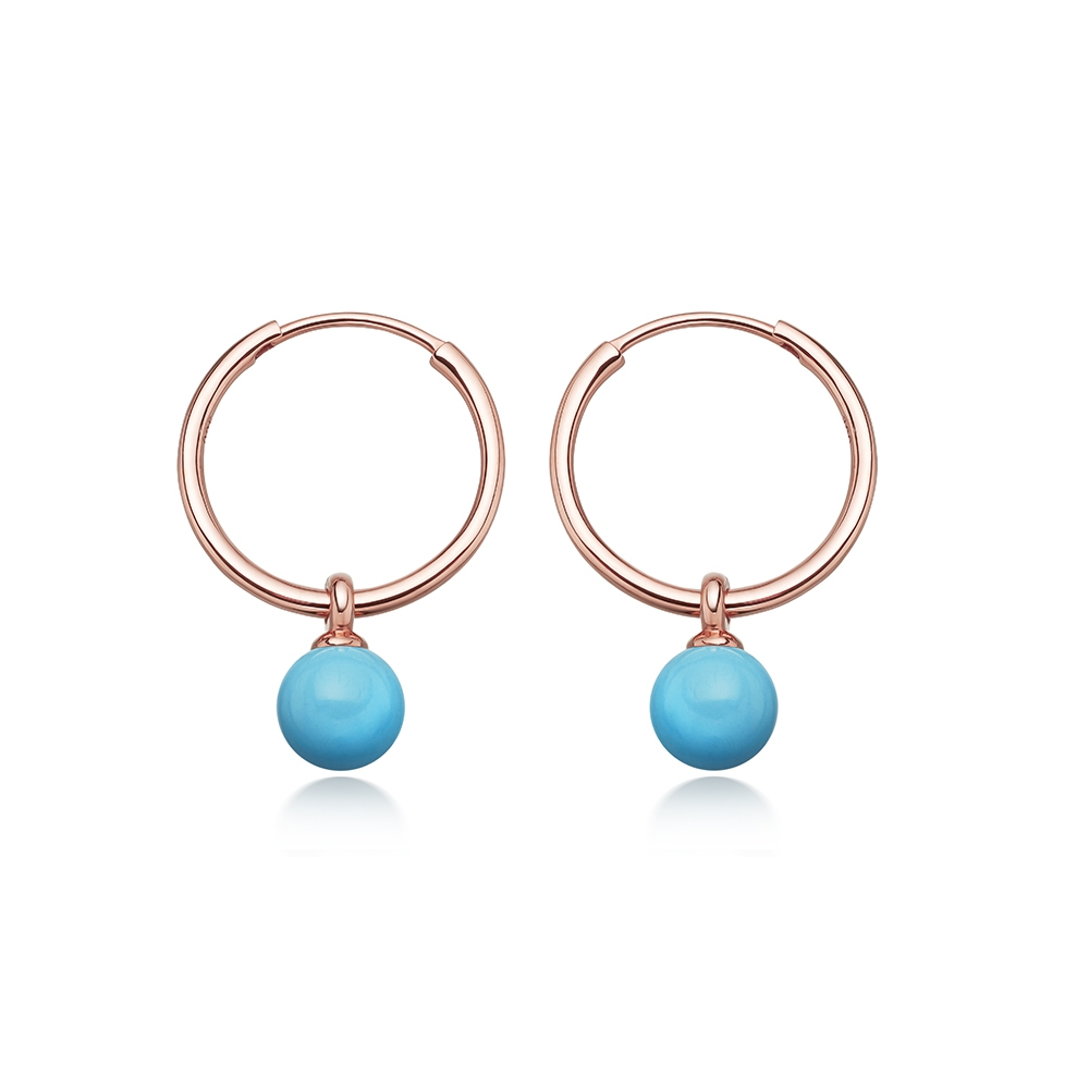 Turquoise Vera Drop Hoop Earrings