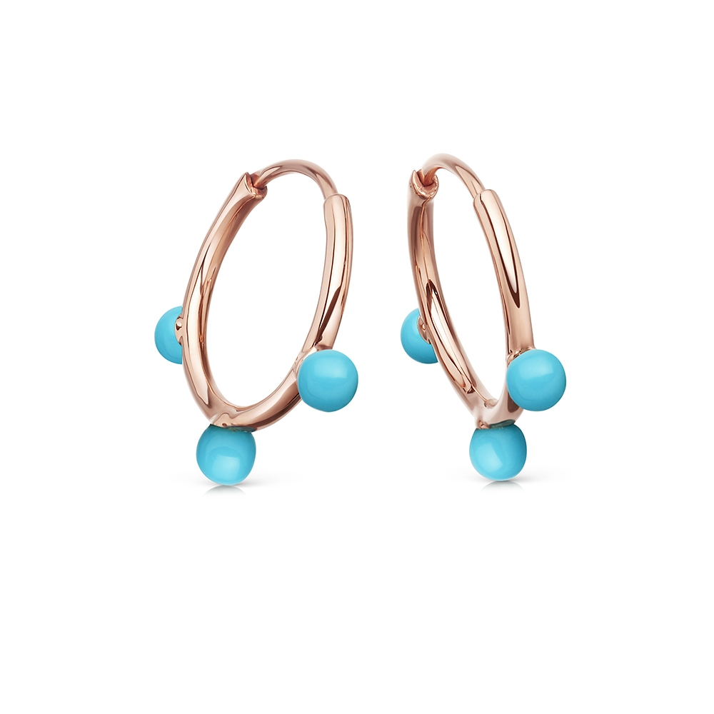 Turquoise Hazel Hoop Earrings