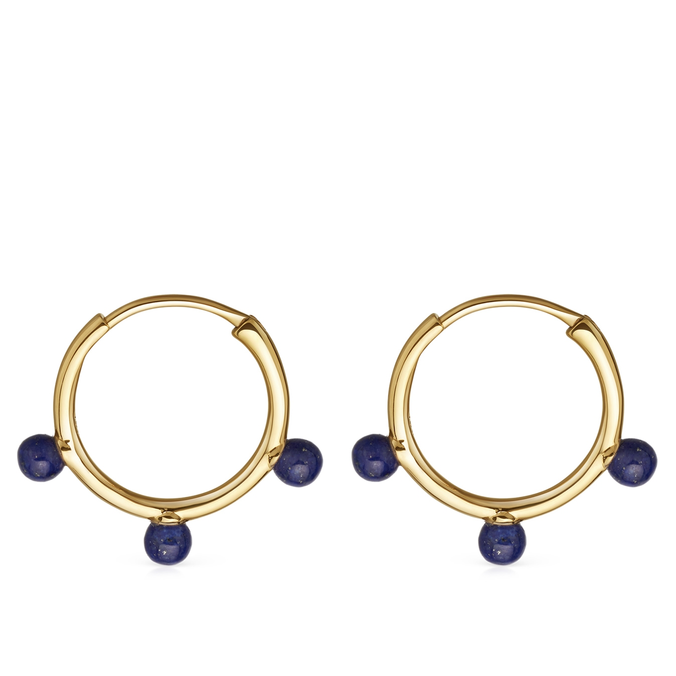 Lapis Hazel Hoop Earrings