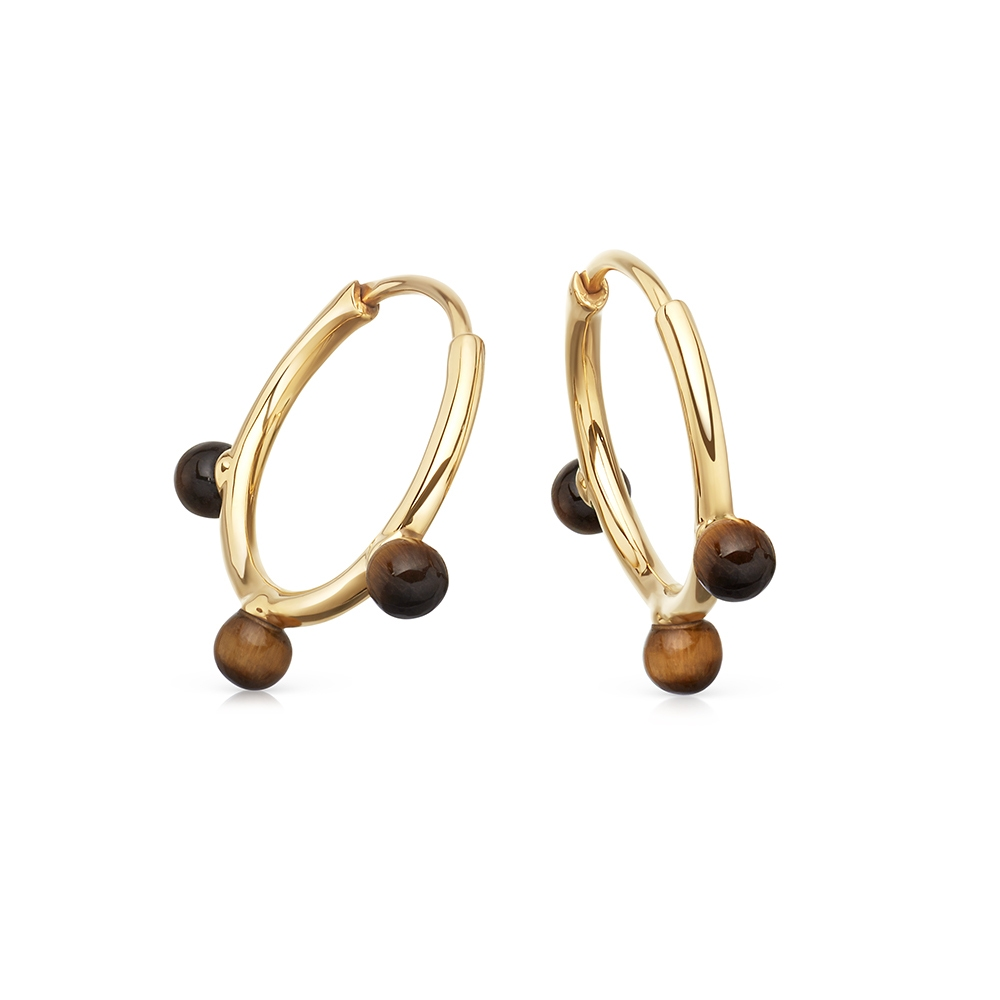 Tigers Eye Hazel Hoop Earrings