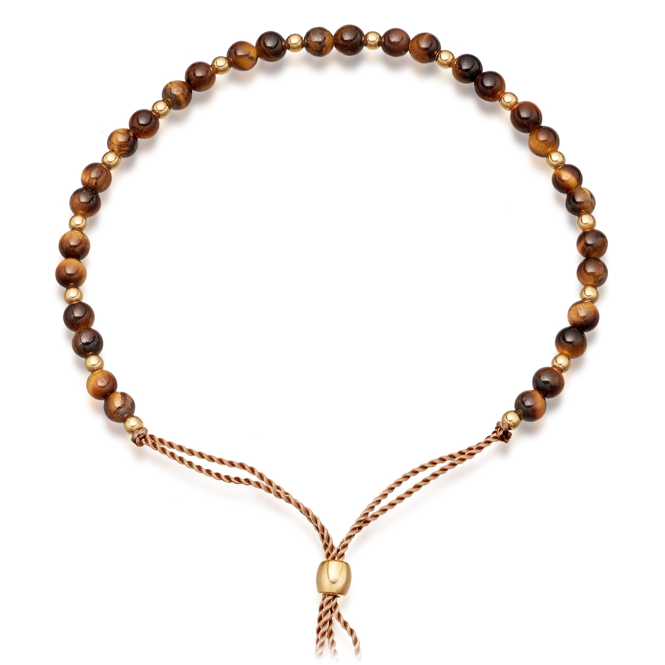 Tigers Eye Beaded Skinny Bracelet