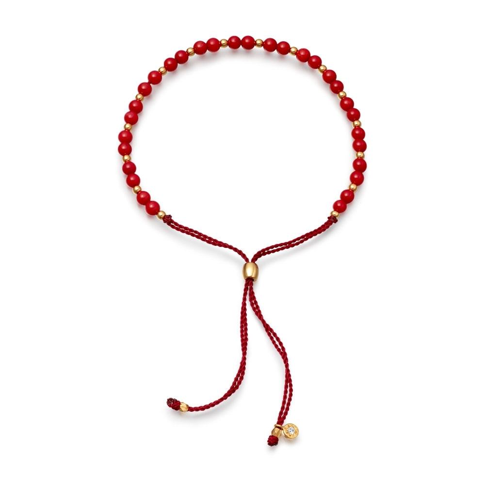 Sea Bamboo Beaded Skinny Bracelet