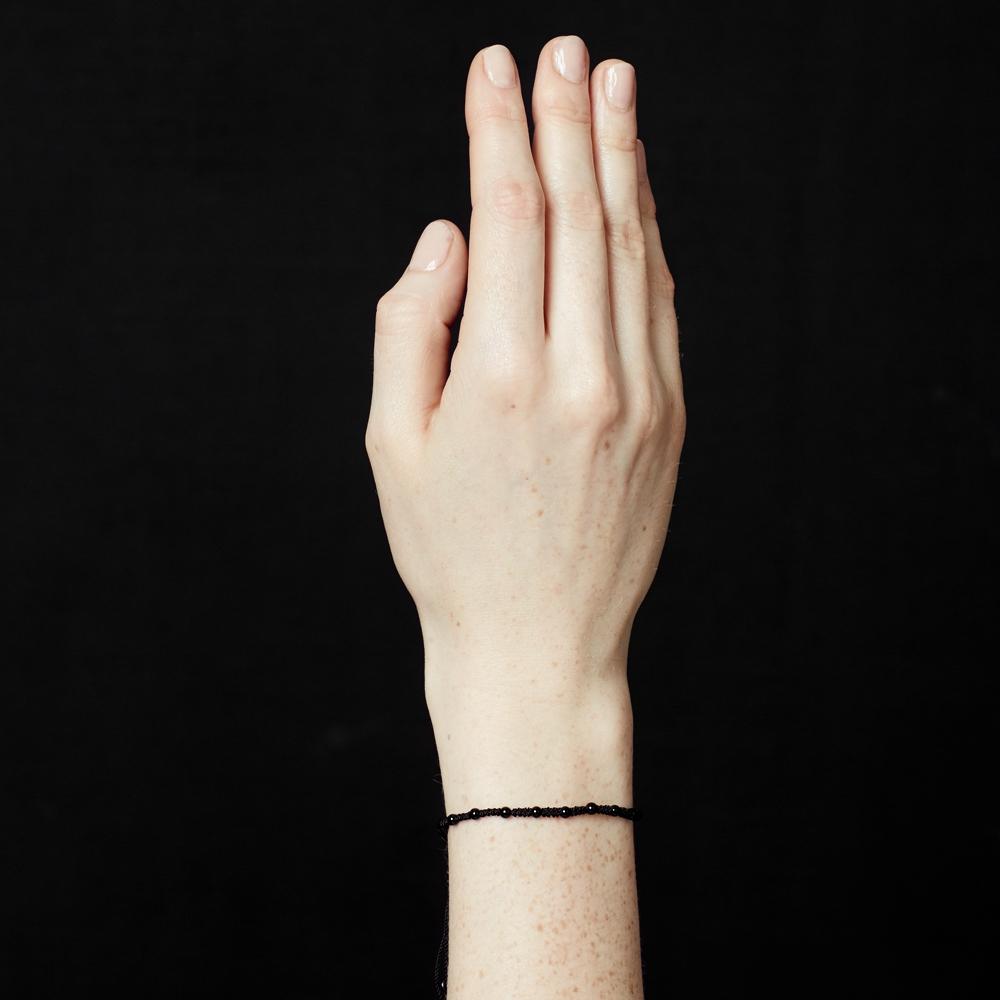 Black Onyx Skinny Bracelet