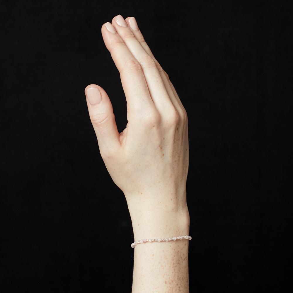 Rose Quartz Skinny Bracelet