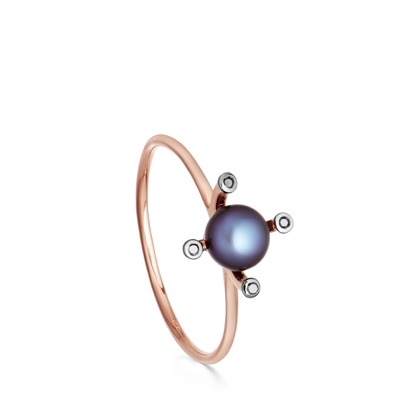 Black Pearl Pluto Ring