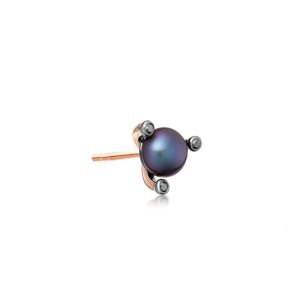 Black Pearl Pluto Single Stud Earring
