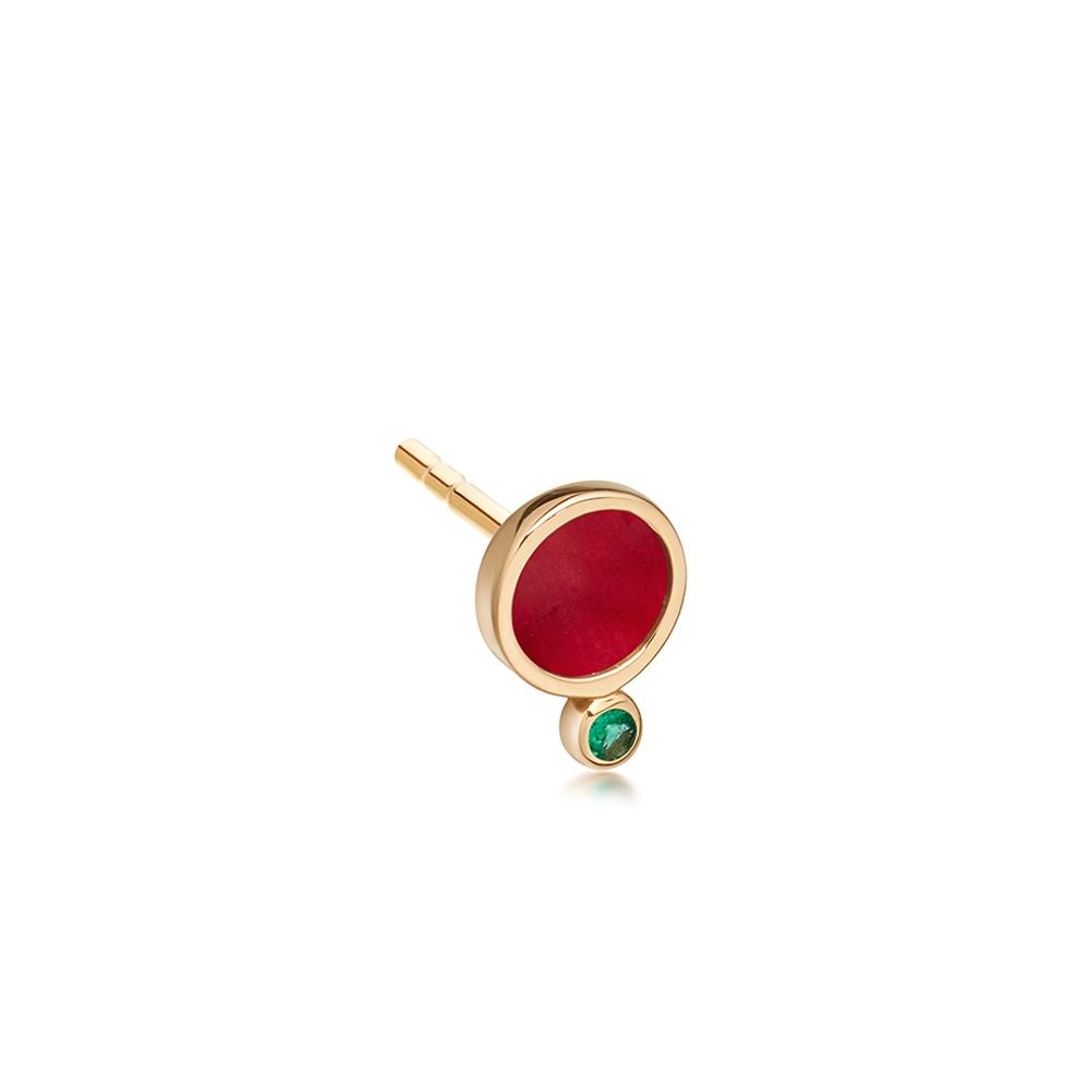 Ruby Mars Single Stud Earring