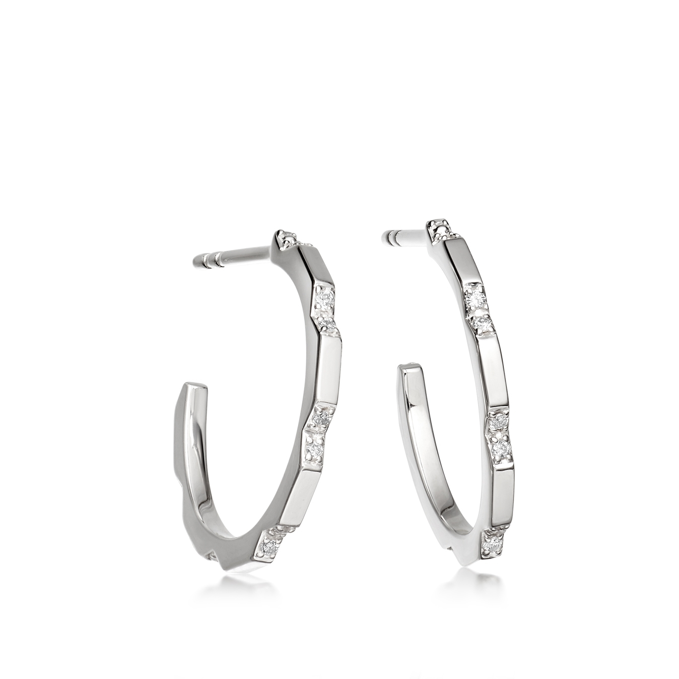 Aubar Diamond Hoop Earrings