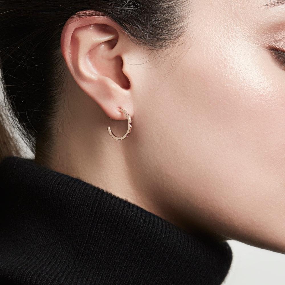 Aubar Ruby Hoop Earrings
