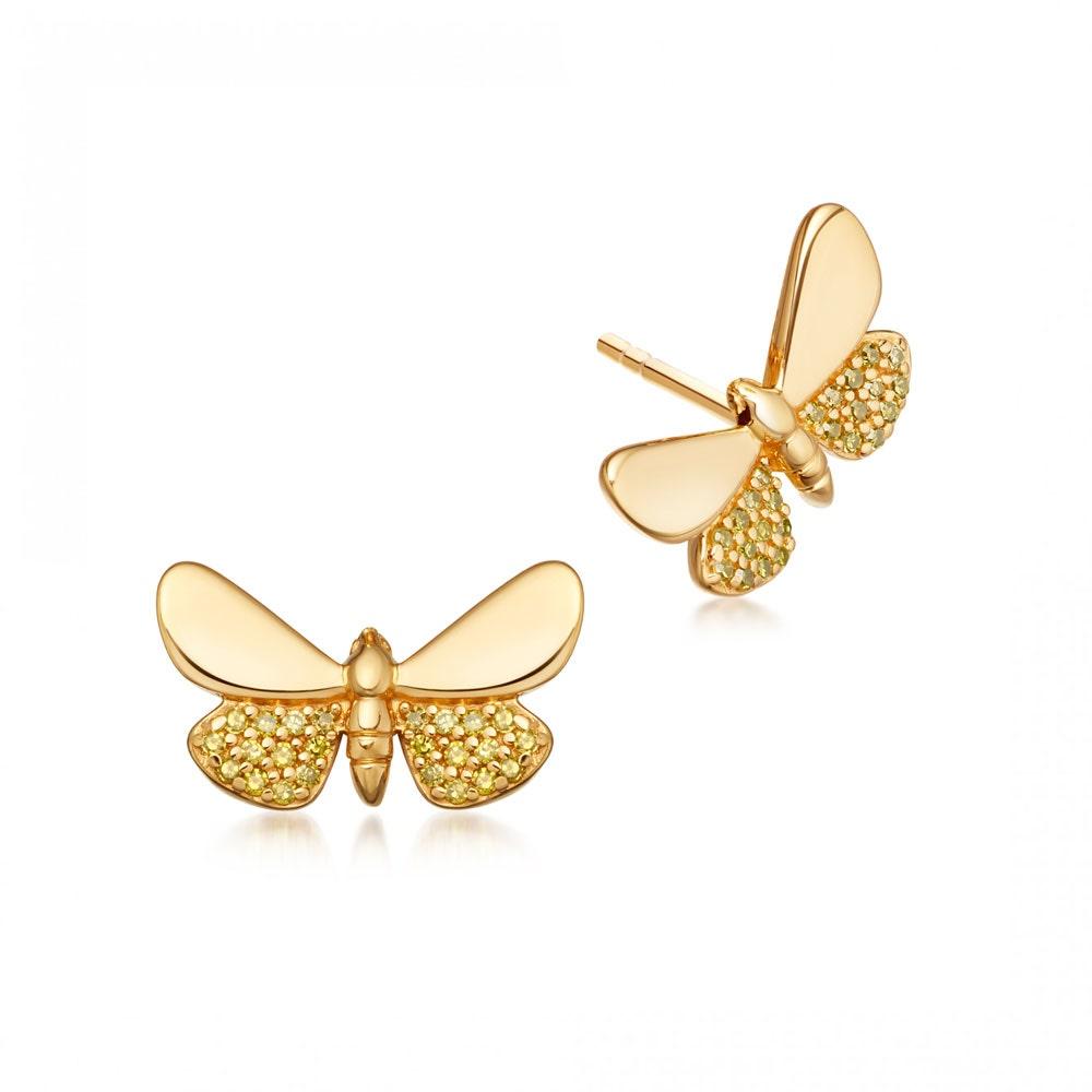 Cinnabar Papillon Earrings