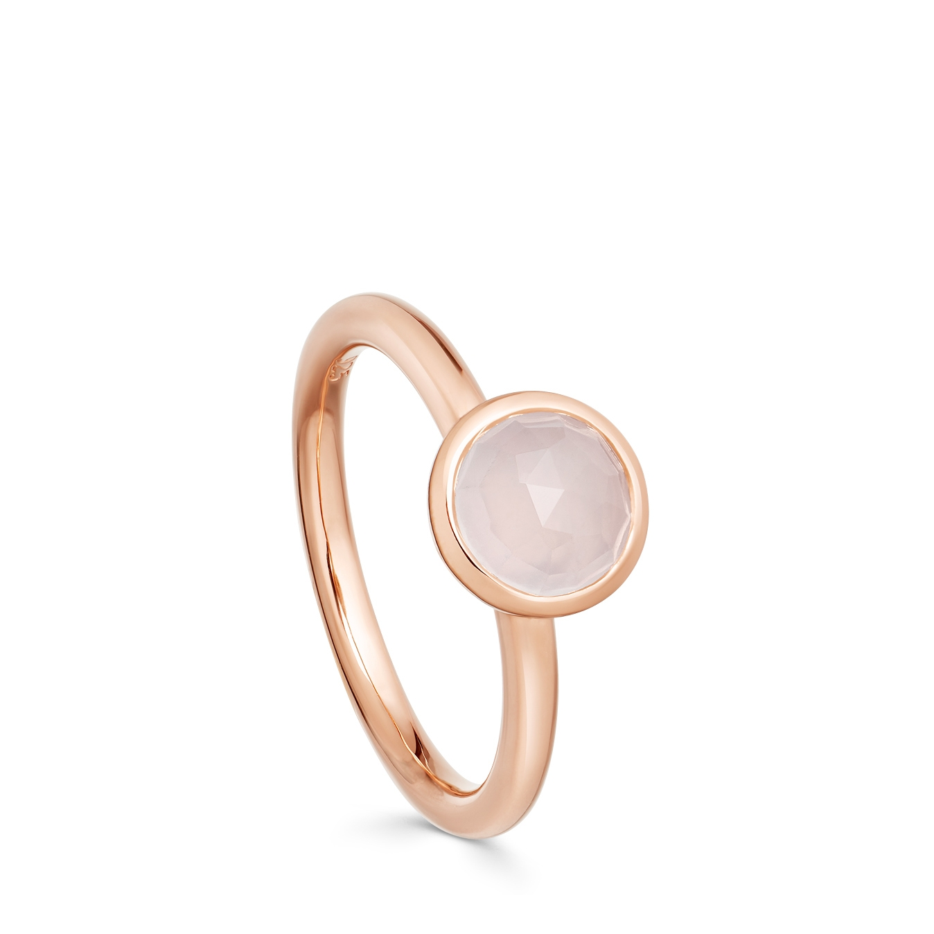 Mini Round Moonstone Stilla Ring