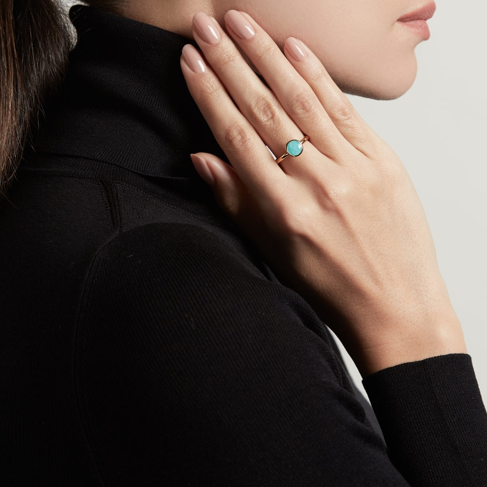 Mini Round Amazonite Stilla Ring
