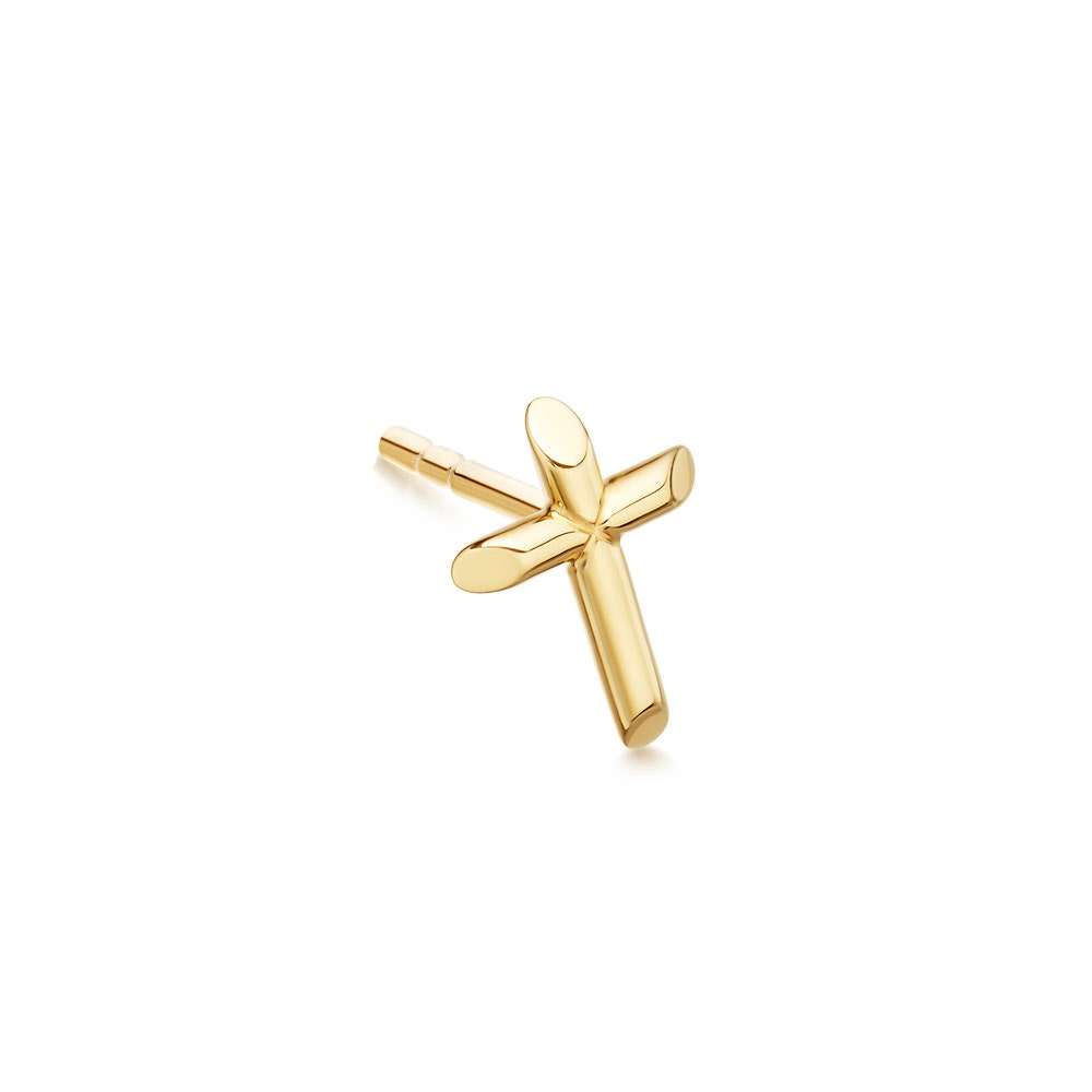 Cross Biography Single Stud Earring