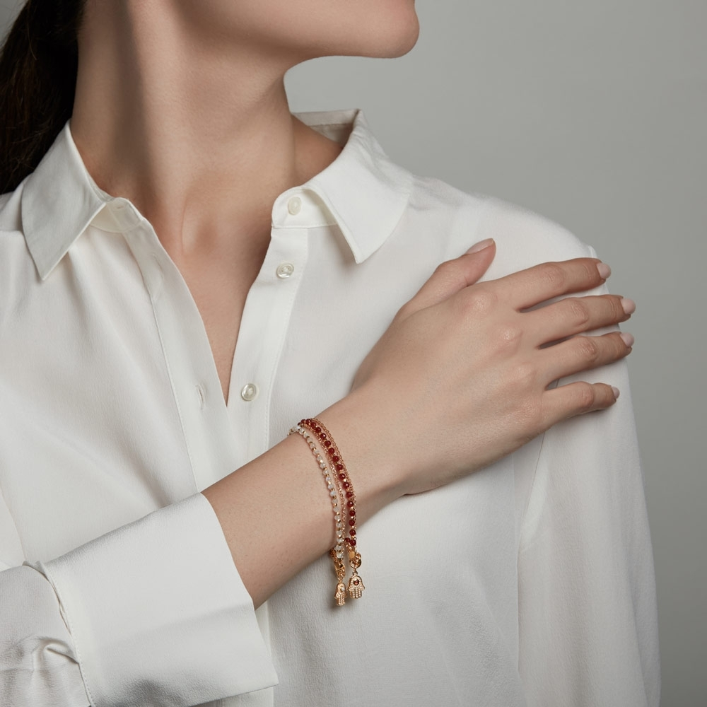 Double Hamsa Bracelet Stack
