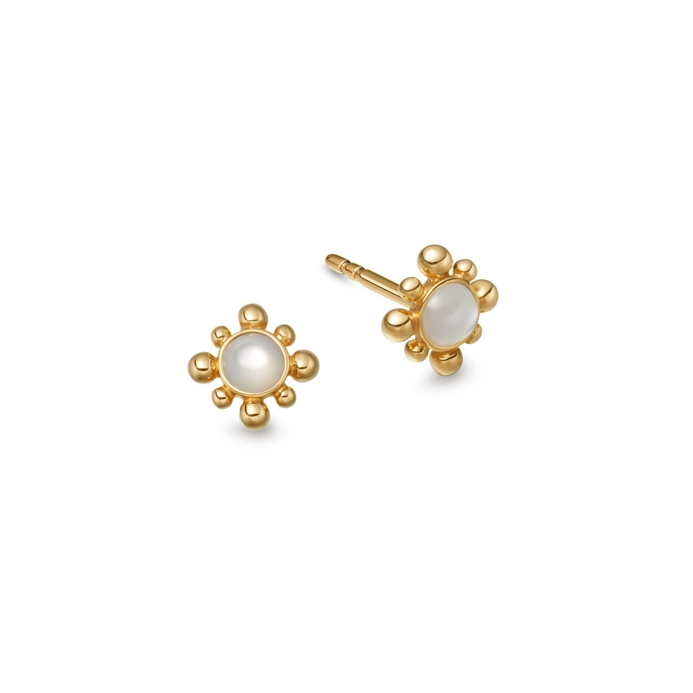 Mother of Pearl Mini Floris Stud Earrings
