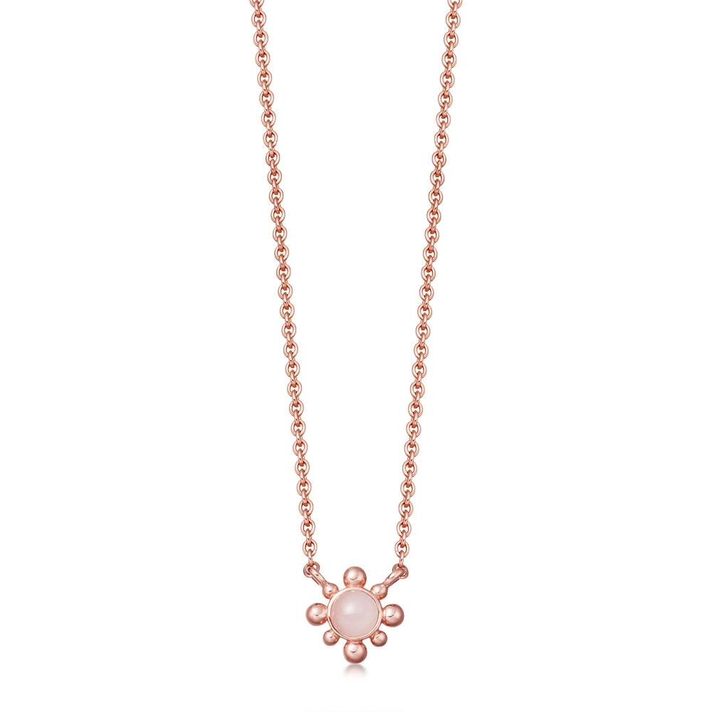 Pink Opal Mini Floris Pendant Necklace