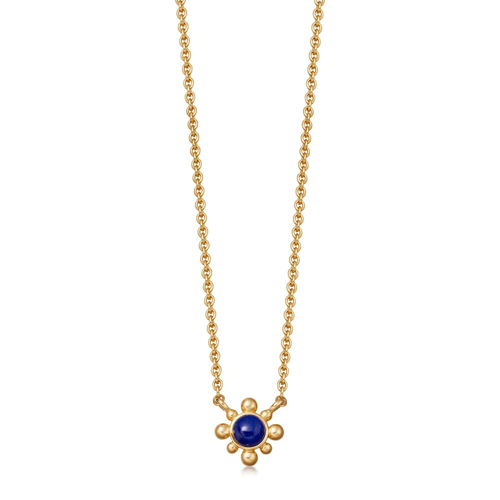 Lapis Mini Floris Pendant Necklace