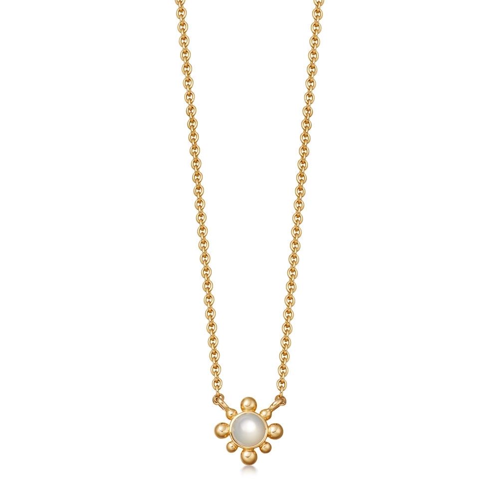 Mother of Pearl Mini Floris Pendant Necklace