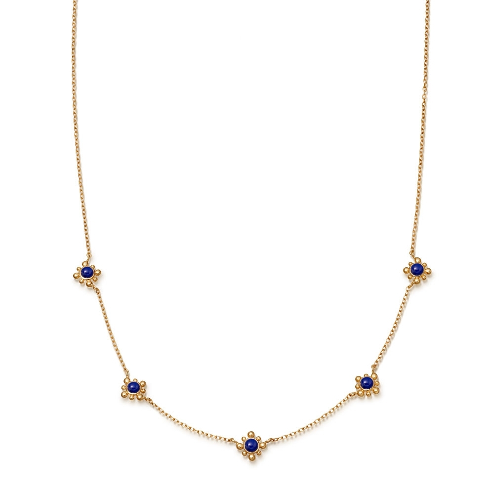 Lapis Mini Floris Necklace