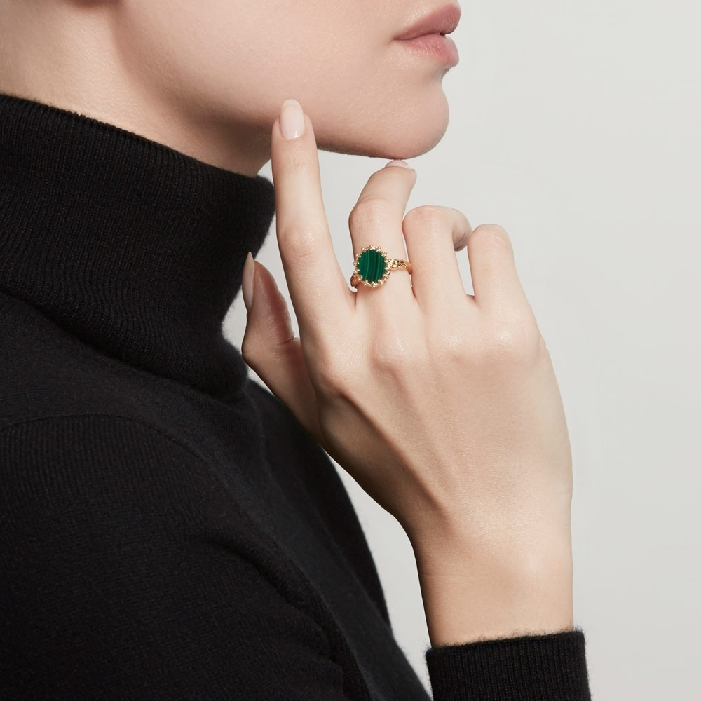 Malachite Large Floris Ring