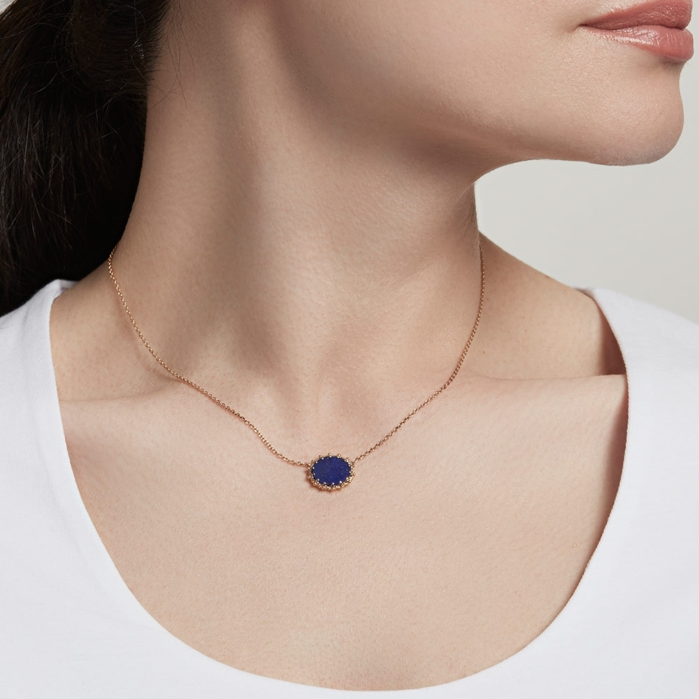 Lapis Floris Pendant Necklace