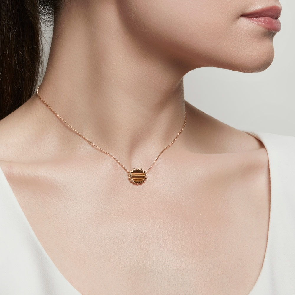 Tigers Eye Floris Pendant Necklace