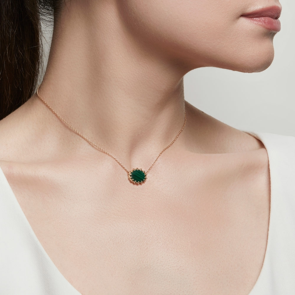 Malachite Floris Pendant Necklace