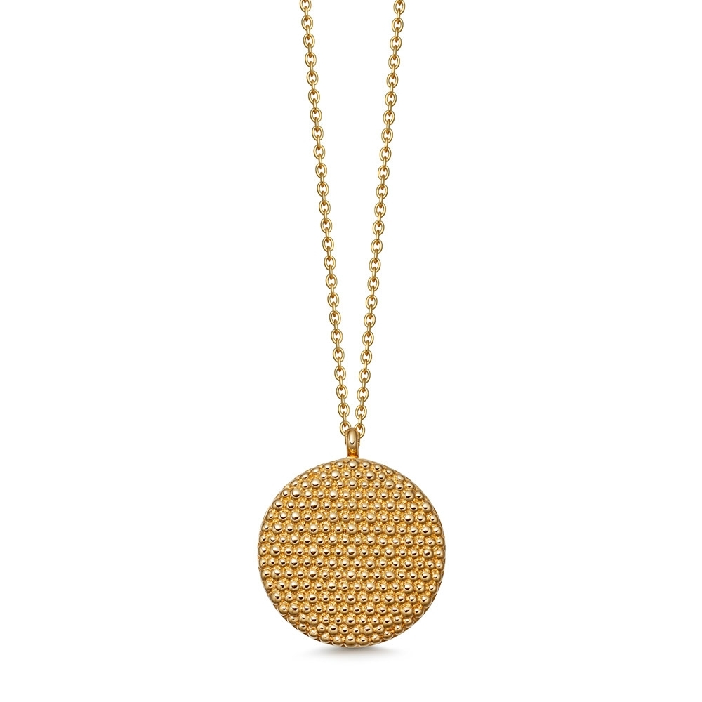 Mille Gold Locket Necklace