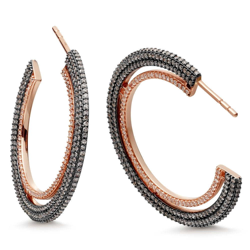 Large Icon Diamond Hoop Earrings