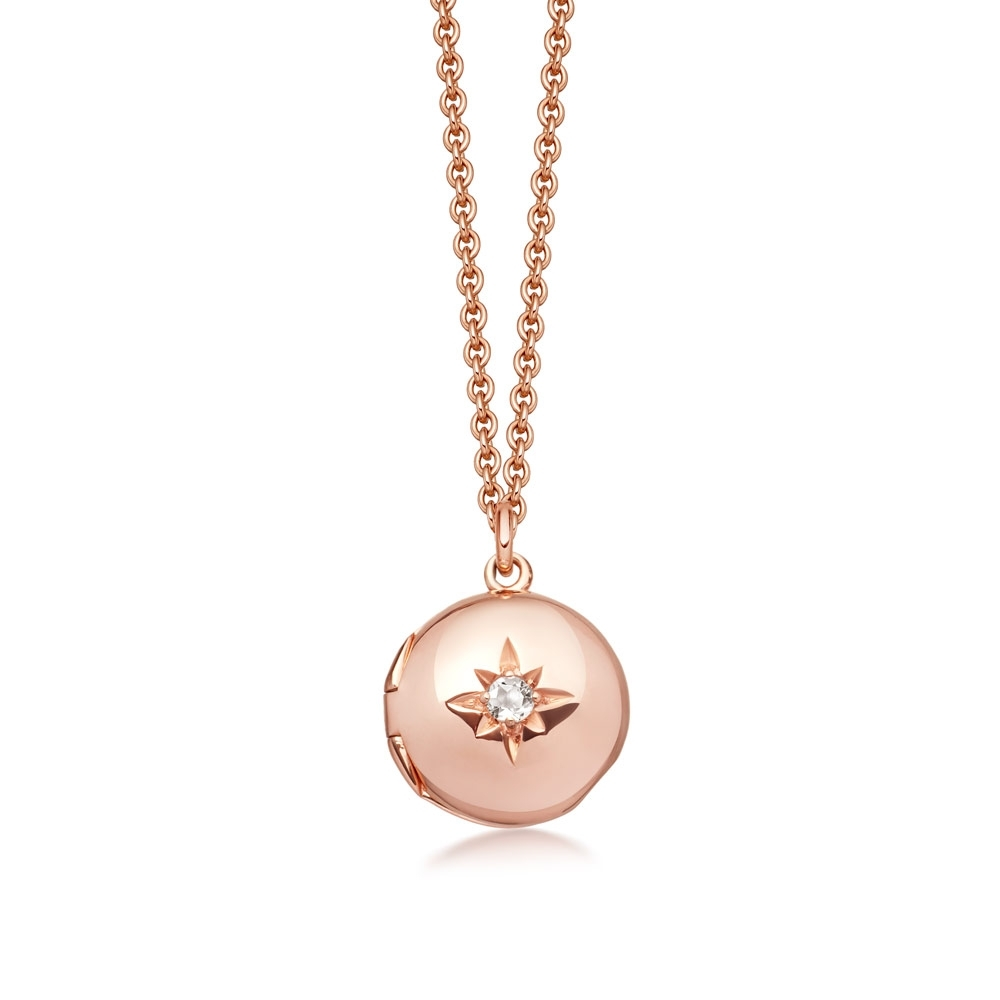 Biography Mini Rose Gold Locket Necklace