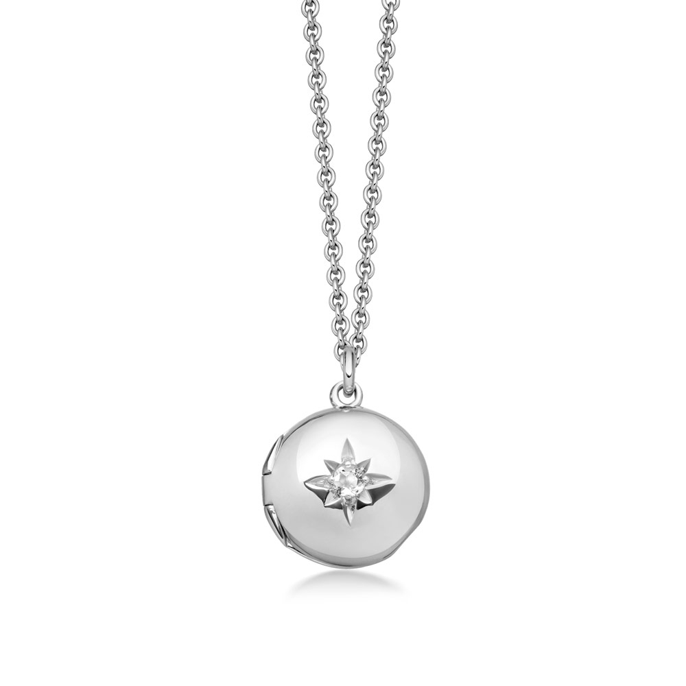 Biography Mini Silver Locket Necklace