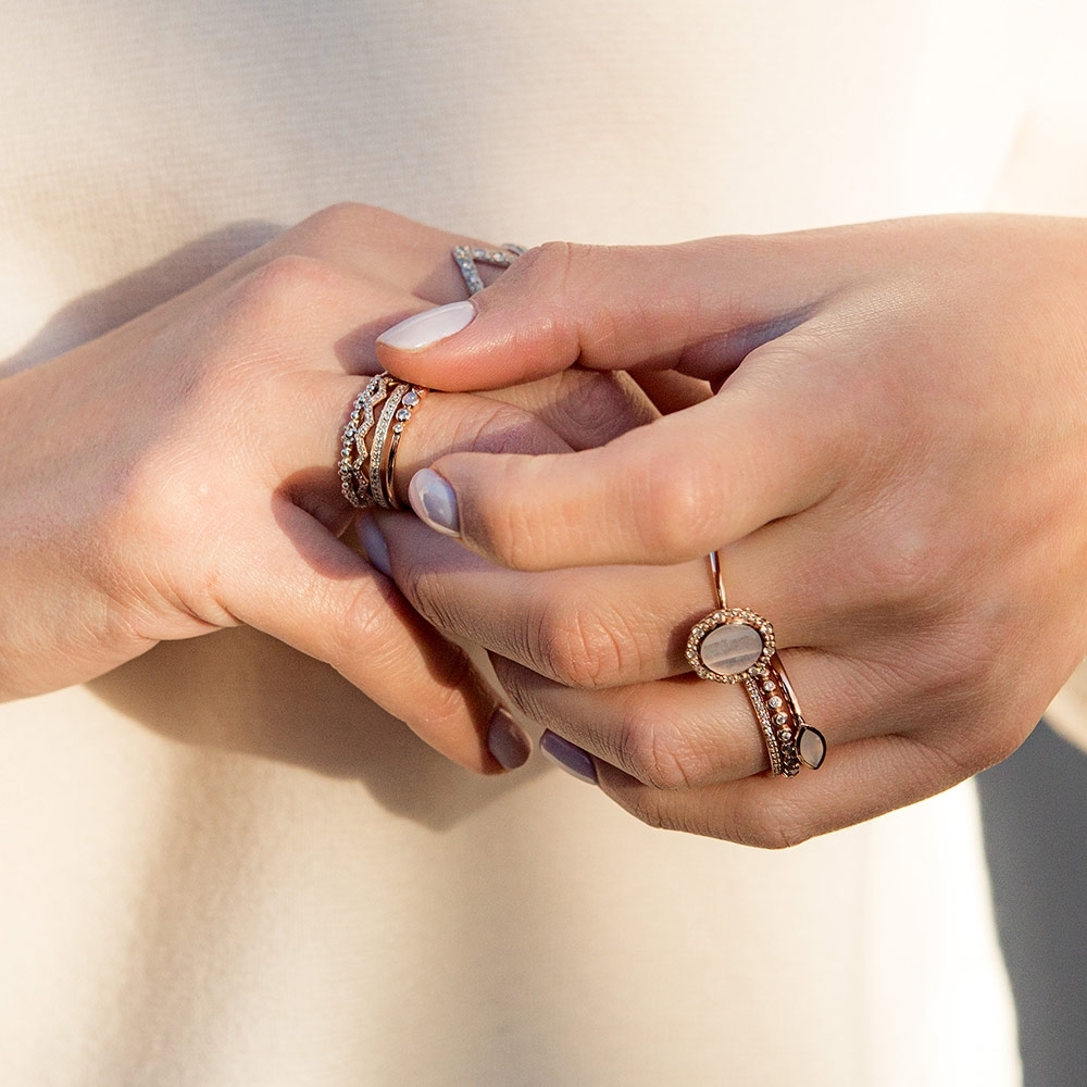 Luna Lace Agate Ring