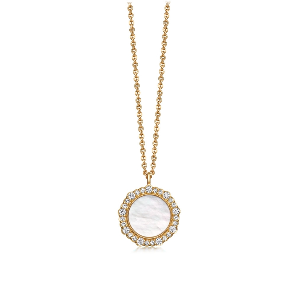 Luna Mother of Pearl Pendant Necklace