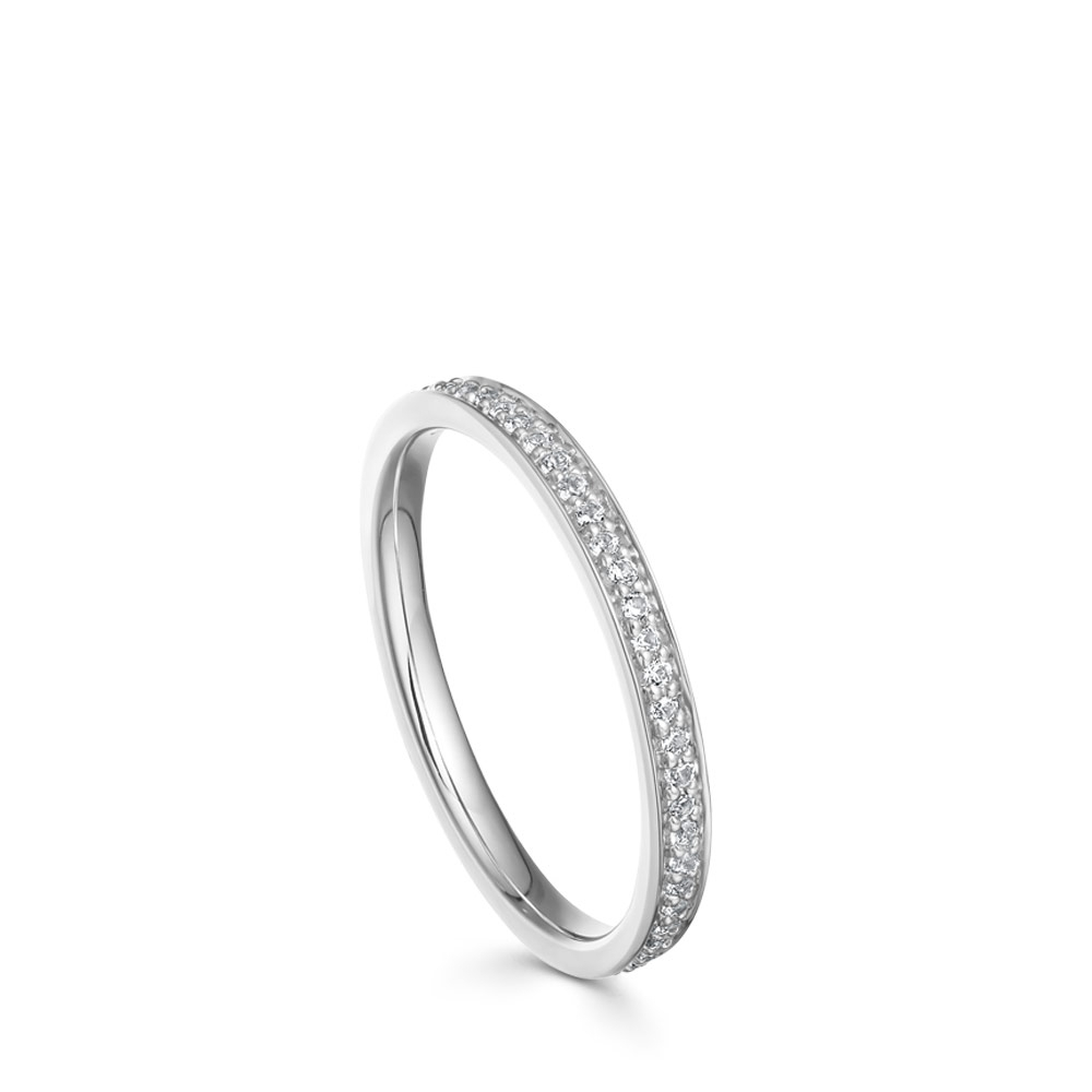 White Sapphire Biography Eternity Ring