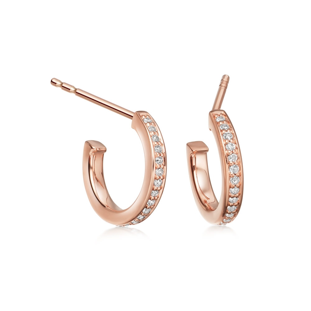 Sapphire Biography Infinity Hoop Earrings