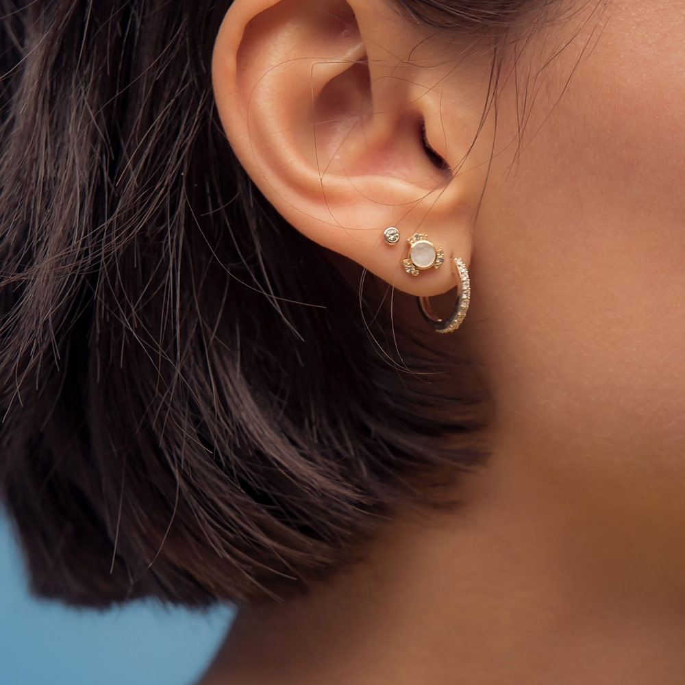 Icon Nova Diamond Stud Earrings