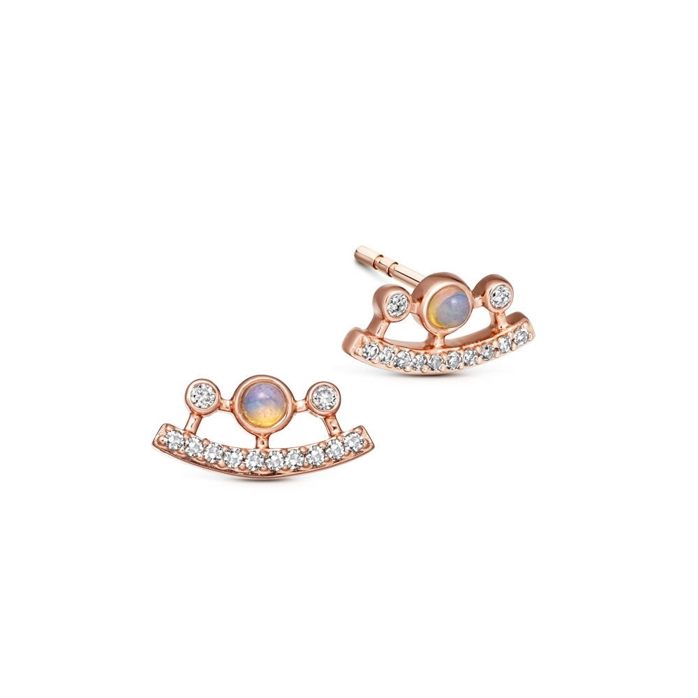 Icon Nova Ellipse Opal Stud Earrings