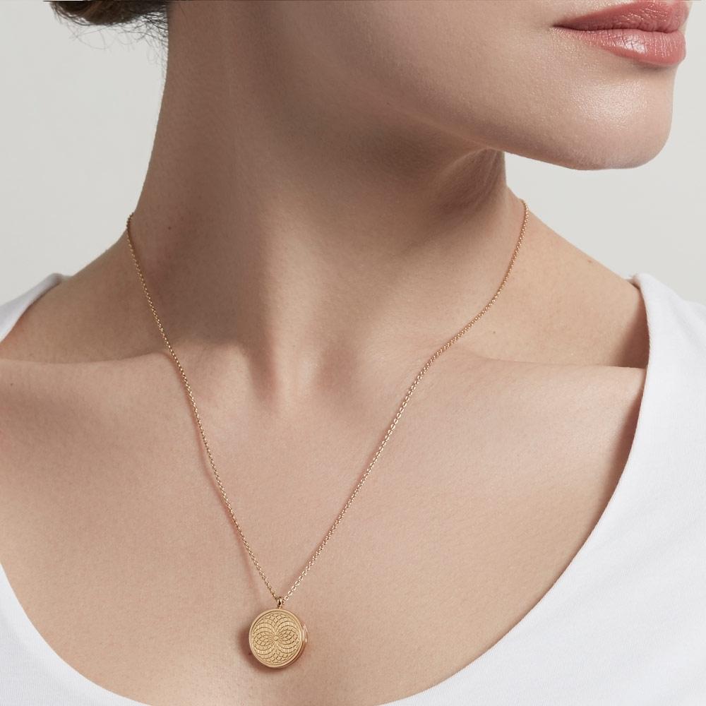 Celestial Radial Locket Necklace