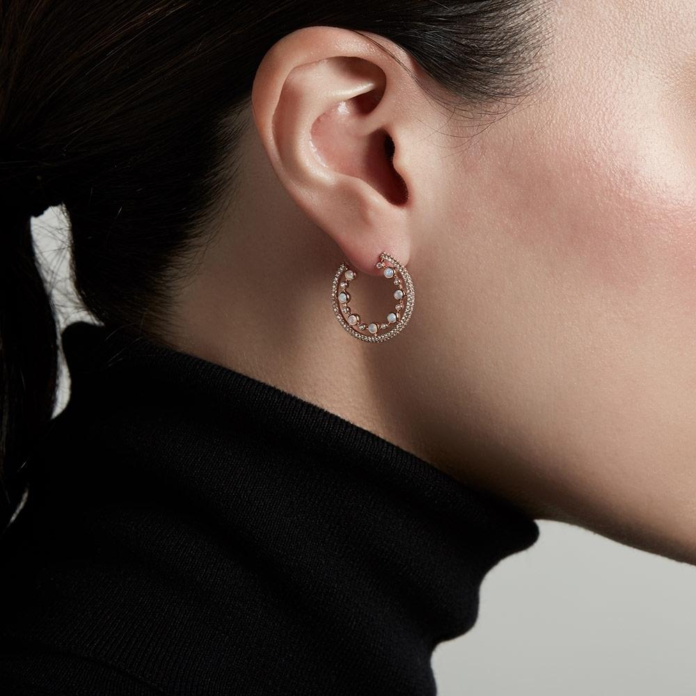 Large Icon Nova Opal Hoop Earrings