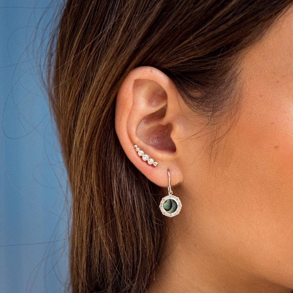 Luna Abalone Drop Earrings