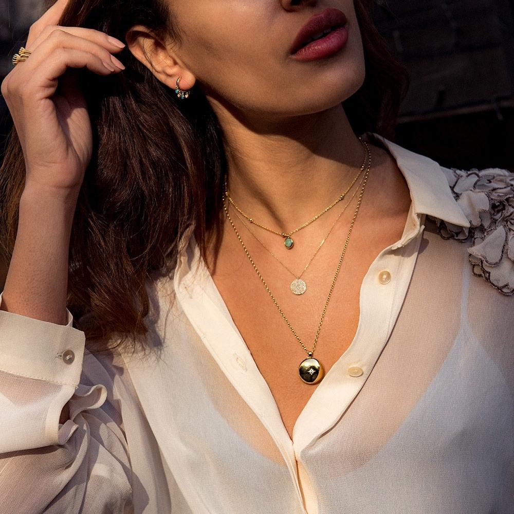 Beaded Amazonite Pendant Necklace