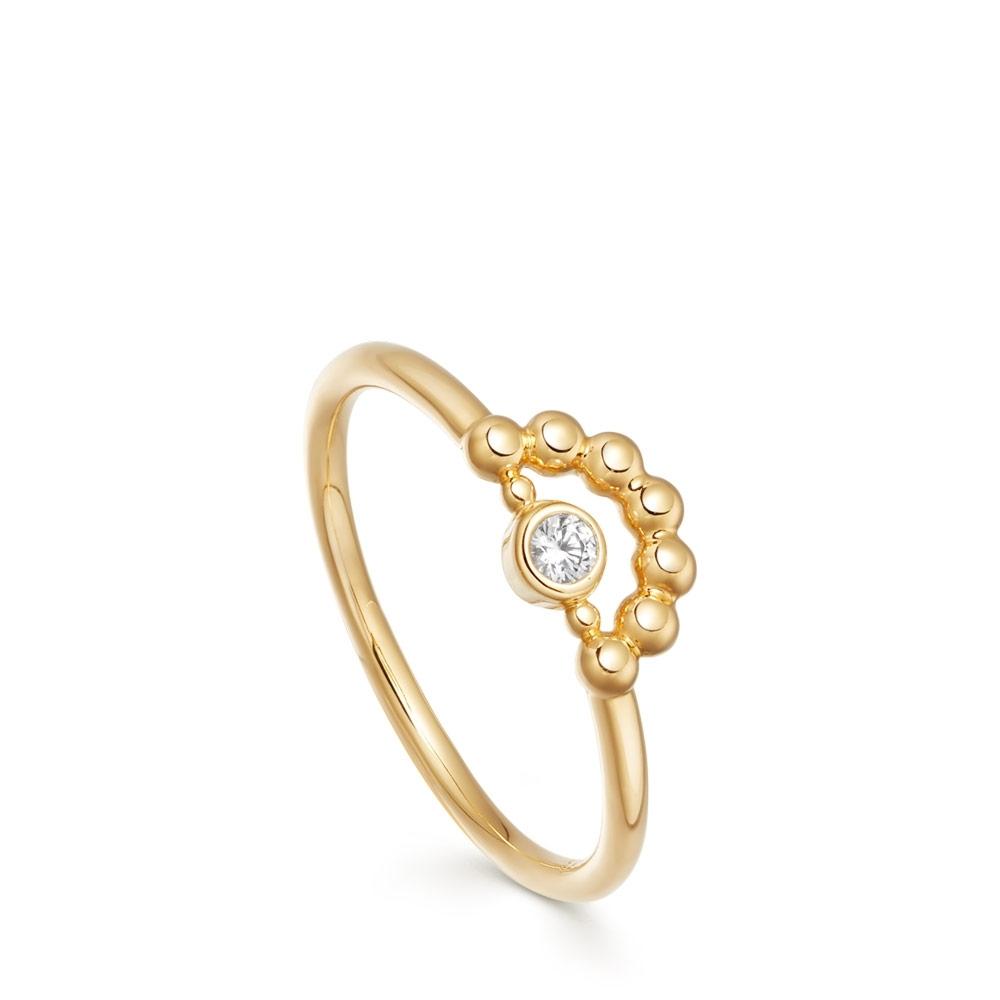 Mini Stilla Arc Beaded Ring