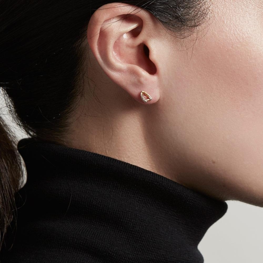 Mini Vela Stud Earrings